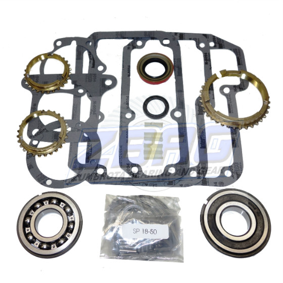 T18 Transmission Bearing/Seal Kit w/Synchro Rings  Bronco/F100-F500/M400/P350 4-Speed Manual Trans 23mm 7/8 Inch Thick Input  Bearing USA Standard Gear